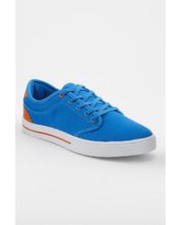 türkise Segeltuch niedrige Sneakers