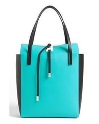 türkise Shopper Tasche aus Leder