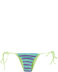 türkise Strick Bikinihose von Cecilia Prado