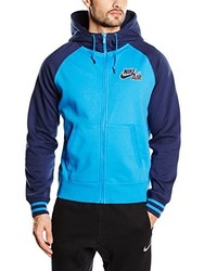 türkiser Pullover mit einem Kapuze von Nike