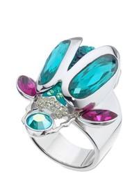türkiser Ring von Swarovski