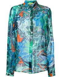 türkises Hemd von Versace