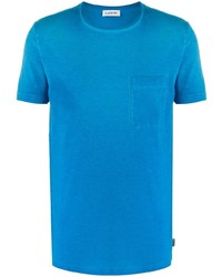 türkises T-Shirt mit einem Rundhalsausschnitt von Lanvin
