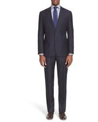 vertikal gestreifter Anzug