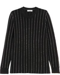 vertikal gestreifter Pullover