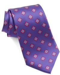 violette bedruckte Krawatte