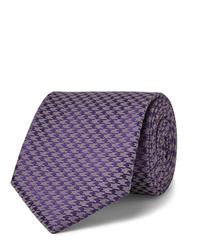 violette bedruckte Krawatte von Charvet