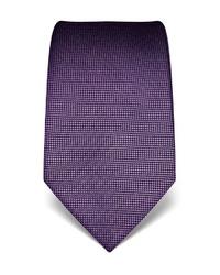 violette bedruckte Krawatte von Vincenzo Boretti