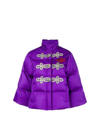 violette Daunenjacke von Gucci