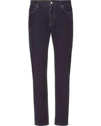 violette enge Jeans von Fendi