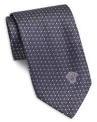 violette gepunktete Krawatte
