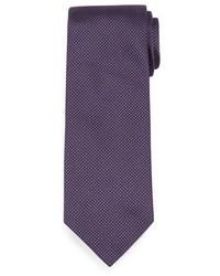 violette gepunktete Seidekrawatte