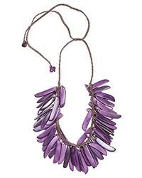 violette Halskette von Isachii