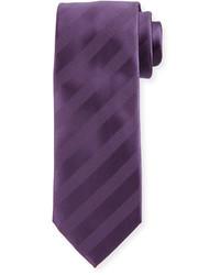 violette horizontal gestreifte Krawatte