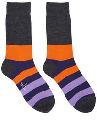violette horizontal gestreifte Socken von Y's