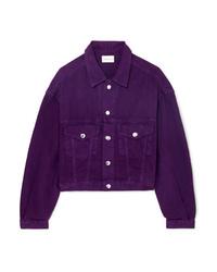 violette Jeansjacke
