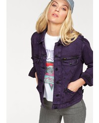 violette Jeansjacke von Wrangler