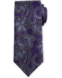 violette Krawatte mit Paisley-Muster