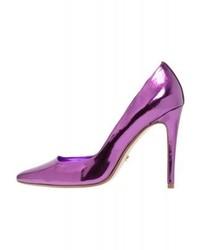 violette Leder Pumps von Dune London