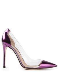 violette Leder Pumps von Gianvito Rossi