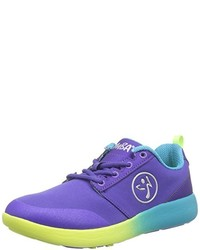 violette niedrige Sneakers von Zumba Footwear