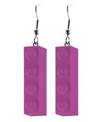 violette Ohrringe von Schmuckzeug