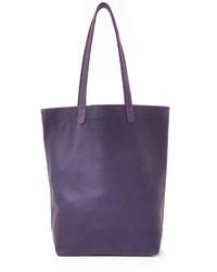 violette Shopper Tasche aus Leder von Baggu