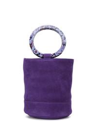 violette Shopper Tasche aus Leder von Simon Miller