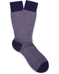 violette Socken von Pantherella
