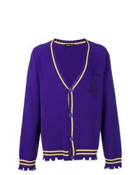 violette Strickjacke von Riccardo Comi