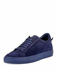 violette Wildleder niedrige Sneakers