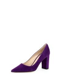 violette Wildleder Pumps von Evita
