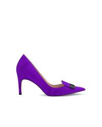 violette Wildleder Pumps von Sergio Rossi