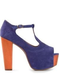 violette Wildleder Sandaletten