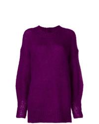 violetter Oversize Pullover von Isabel Marant