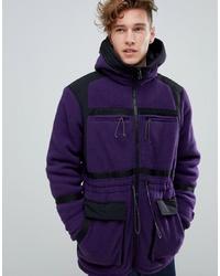 violetter Parka mit einem Schwalbenschwanz von ASOS DESIGN