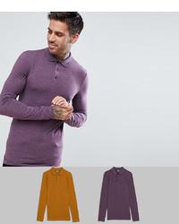 violetter Polo Pullover von ASOS DESIGN
