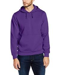 violetter Pullover mit einem Kapuze von Clique