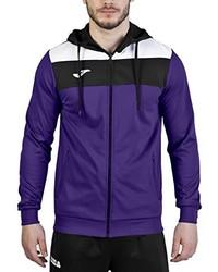violetter Pullover mit einem Kapuze von Joma