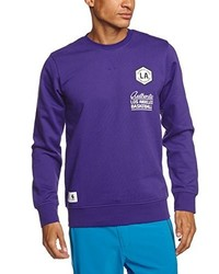 violetter Pullover mit einem Rundhalsausschnitt von adidas