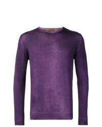 violetter Pullover mit einem Rundhalsausschnitt von Altea