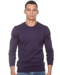 violetter Pullover mit einem Rundhalsausschnitt von FIOCEO