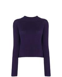 violetter Pullover mit einem Rundhalsausschnitt von Vince