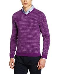 violetter Pullover von Benetton