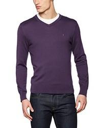 violetter Pullover von Tommy Hilfiger