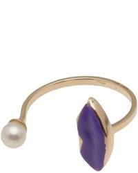violetter Ring von Delfina Delettrez