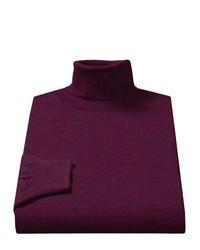 violetter Rollkragenpullover
