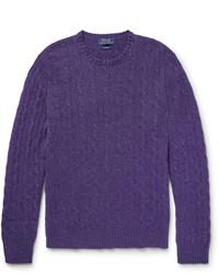 violetter Strickpullover