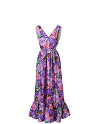 violettes Ballkleid mit Blumenmuster von MSGM
