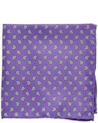 violettes bedrucktes Einstecktuch